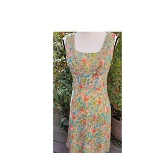 Ann Taylor Silk Floral Spring/Summer Dress Size 8